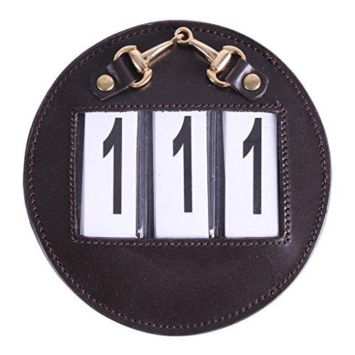 QHP Paar Nummernhalter Turnier Startnummern Ricki mit Mini-Trense, wechselbare Zahlen (Weiß/Silber) (Braun/Gold)