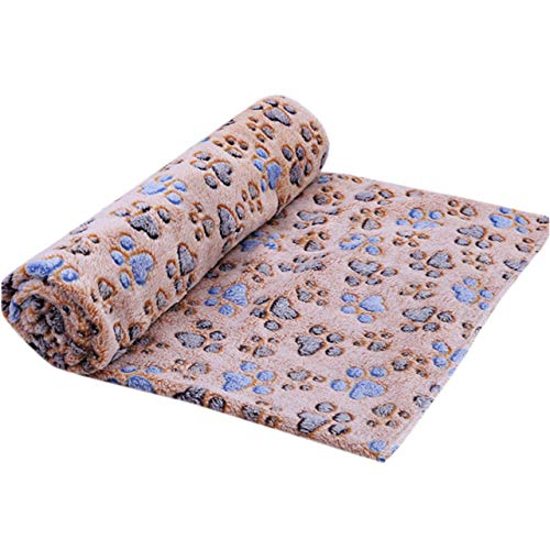 Niedliche Hund Pfote Klaue Mode Handtuch Haustier Katze Hund Reinigungstuch schmutzig hohe Saugkraft Teppich weiche Haustier Matte warme Decke, Kaffee, Ch