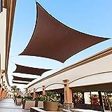 Toldo Vela de Sombra Rectangular Protección Rayos UV Solar Protección HDPE Transpirable Aislamiento de Calor para Dar Sombra a su, Jardín (2 * 3m, Marrón)