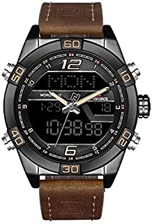Naviforce Sport Watch For Men Analog-Digital Leather - 9128