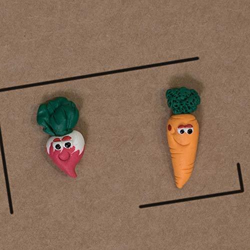 Pendientes rábano y zanahoria hechos a mano 100% únicos