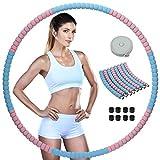 Wonantorna Weighted Hula Hoop, Hoola Hoop Fitness, Hula Hoop Adulti, 8 Parti Staccabili, F...