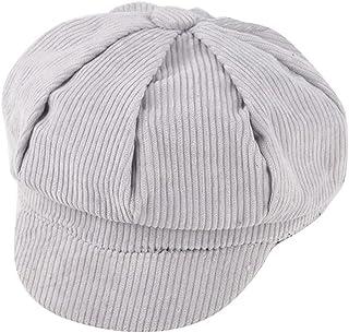 JJSPP Children Corduroy Berets Hat Solid Color Retro Beret Vintage Octagonal Cap Autumn Winter Wool Sailor Hat