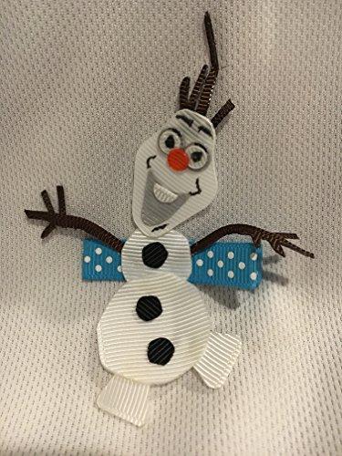 Snowman Hair Clip, Snowman Hair Bow, Girls Hair Accessory