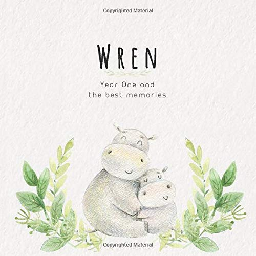 Wren Year One and the best Memories: Baby Book I Babyshower or Babyparty Gift I Keepsake I Memory Journal with prompts I Pregnancy Gift I Newborn Notebook I For the parents of Wren