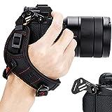 JJC Correa de mano para cámara sin espejo compatible con Nikon Z7 Z7 II Z6 Z6 II Sony ZV-E10 A7C A7III A7II A7RIII A7RII A7SII A9 A6500 A6400 Canon EOS R5 R6 Fuji X-T3 X-T2 X-T30 X-E3