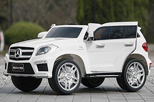 RC Auto kaufen Kinderauto Bild: Kaufexpress Mercedes Benz GL63 AMG Jeep SUV Lizenz Kinderfahrzeug mit 2X 35W Motor Kinderauto Elektroauto Fernbedienung MP3 Anschluss in Weiß*