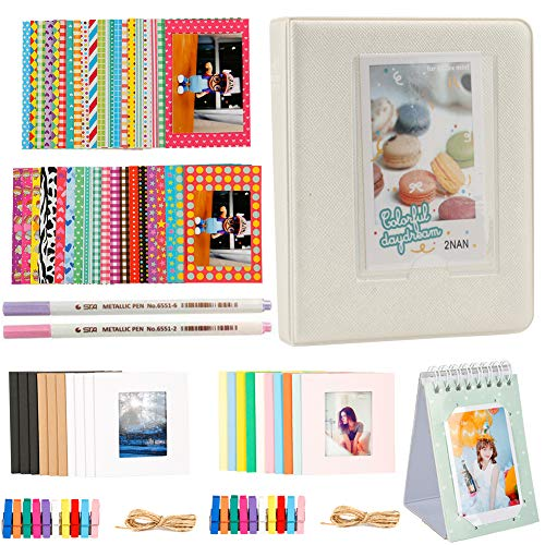 Annle Accesorios para álbum de Fotos de 3 Pulgadas para Fujifilm Instax Mini Camera/HP Sprocket Photo Printer/Polaroid Snap, Z2300, Cámaras Instantáneas SocialMatic y Zip Instant Printe
