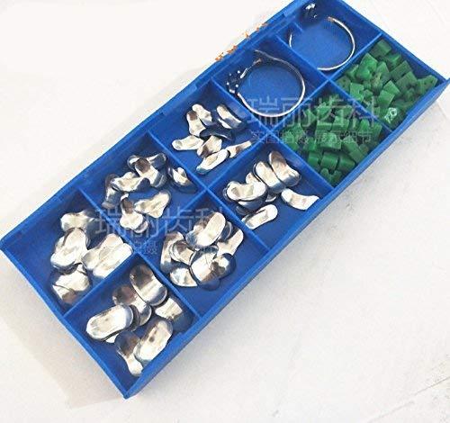 100Pcs/box Dental Sectional Contoured Matrices Matrix Ring Delta Wedges