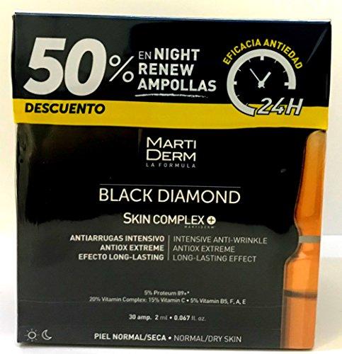 MARTIDERM BLACK DIAMOND SKIN COMPLEX 30 AMPOLLAS + 50% DTO NIGHT RENEW...