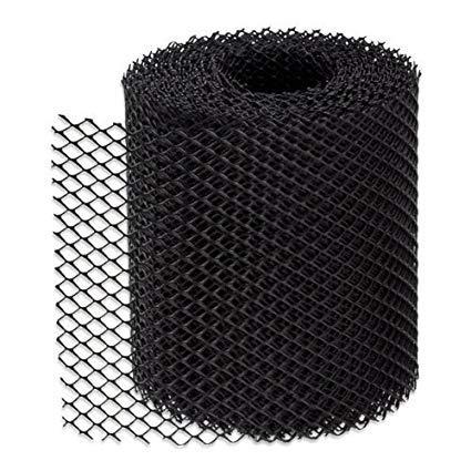 St@llion - Rotolo di rete per grondaie, in plastica, 2 m, colore: nero, nero