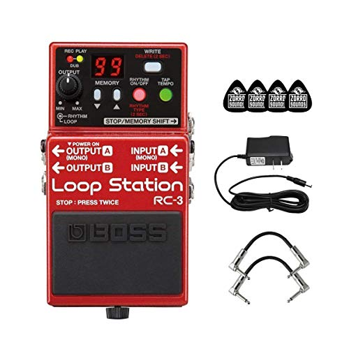 Top boss rc-3 loop station compact phrase recorder pedal for 2021