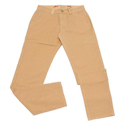Carlo Chionna 5019X Pantalone Uomo 9.2 Orange Blue Cotton Trouser Man [34]