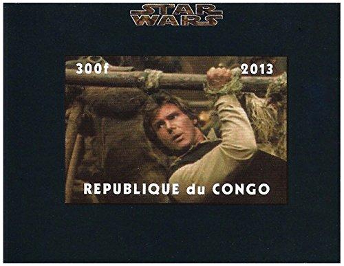 Star Wars sellos - Han Solo atado en El Retorno del Jedi - imperforado - incluida suelta y nunca original - 2013 / Congo / 300F