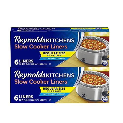 Slow Cooker Liners, Regular (Fits 3-8 Quarts), 12 Total, 6 Count (Pack of 2)