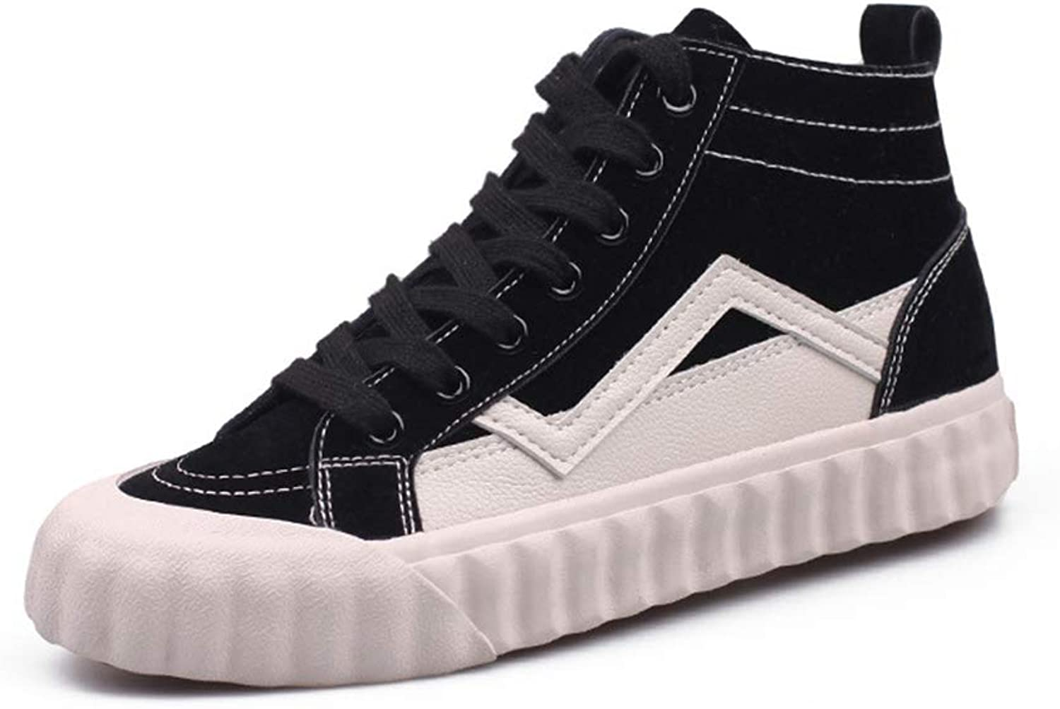 Women Casual shoes Canvas Buckle Comfortable Slip Lace Up High Top Sneakers