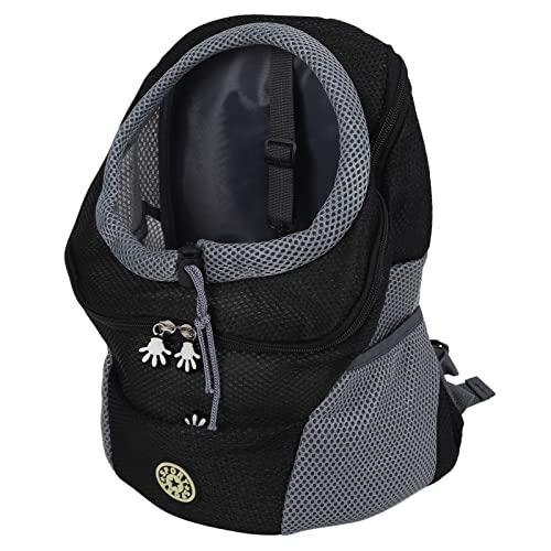 Bolsa De Transporte Para Mascotas, Duradera, Espaciosa, Segura, Conveniente, Mochila Para Mascotas Para Viajes De Perros Para Llevar Perros(SG, negro)