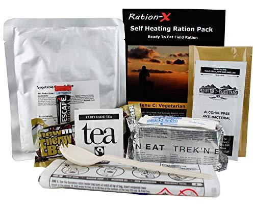 Self Heating Field Ration Pack Ready to Eat Meal Menu C Vegan 1