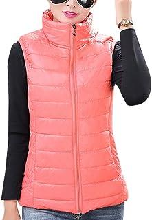 Culater/® Nouvelle Femmes Minces Asym/étrique en Mousseline de Soie Cardigan Vest Long Lacet Gilets Clip