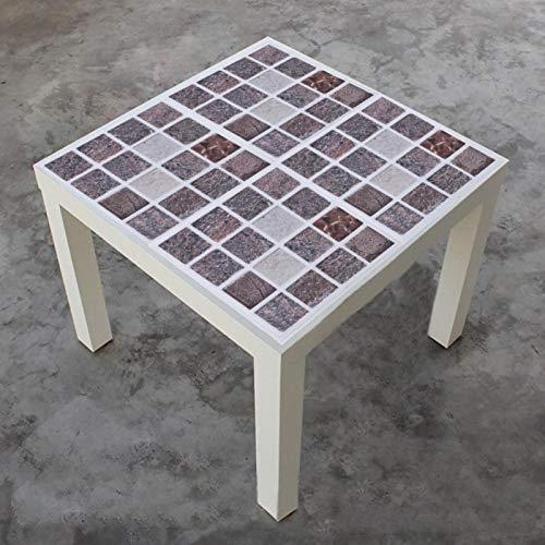 Ruining Etiqueta engomada del azulejo, Adhesivo Autoadhesivo Mosaico Reutilizable de 10 cm * 10 cm, Estilo Mosaico para baño de Cocina(MTS010)