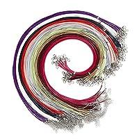 ロブスタークラスプ ロブスターバックルマルチスタイルワックスロープ鎖骨チェーンワックスラインロープビーズライン手作りDIYジュエリー素材ネックレスのペンダントロープ 丈夫な (Color : 6-D-CL-100PM9-10pcs, Size : 1.5mm)