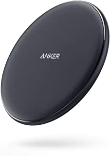 Anker Wireless Charger, PowerWave Pad, Compatible iPhone 11, 11 Pro, 11 Pro Max, Xs Max, XR, XS, X, 8, 8 Plus, 10W Fast-Charging Galaxy S10 S9 S8, Note 10 Note 9 Note 8 (No AC Adapter)