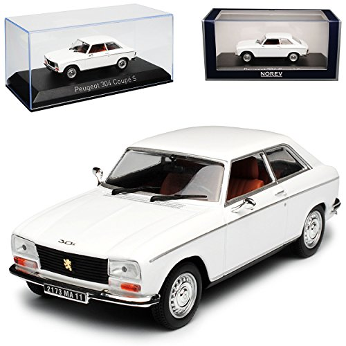 Norev Peugeot 304 Coupe S Weiss 1969-1980 1/43 Modell Auto