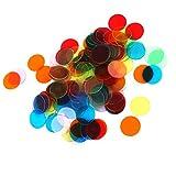 oshhni 120 Marcadores de Fichas de Bingo Pro Count para Tarjetas de Juego de Bingo de 3 Cm (6 Colores)