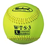 Markwort Weighted Synthetic Covered Baseball, 9-Inch, 3-Ounce, Optic Yellow