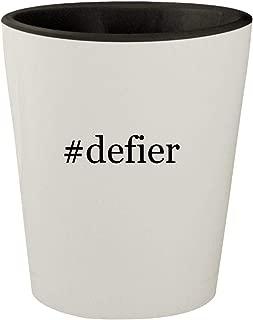 #defier - White Outer & Black Inner Hashtag Ceramic 1.5oz Shot Glass