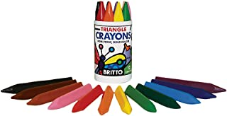 P'Kolino Britto Triangle Crayons (12 Colors)