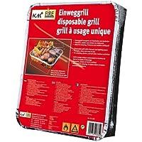 KM Firemaker - Barbacoa desechable con 450 g de carbón vegetal y papel de encendido, para pícnics, barbacoas de picnic 365.