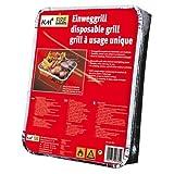 KM Firemaker 2 Packungen Einweggrills mit 450 g Holzkohle und Anzündpapier/Picknick/Grill/Instant...
