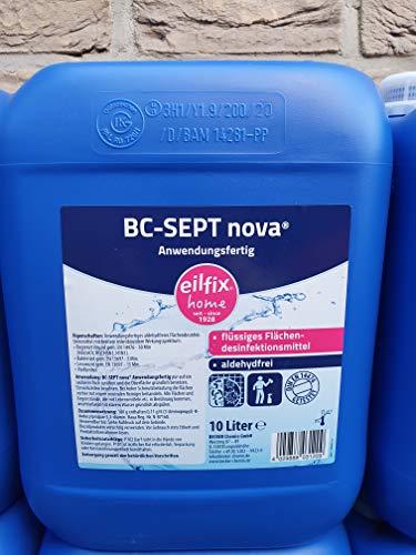 Becker Chemie GmbH Eilfix BC-Sept® nova Flächendesinfektion 10 l Kanister, Desinfektionsmittel - für den Küchen-, Krankenhaus- und Pflegebereich und die Lebensmittelverarbeitung