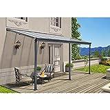 Home Deluxe - Terrassenüberdachung anthrazit - verschiedene Größen (495 x 303 cm) | Wintergartendach Verandaüberdachung Vordach