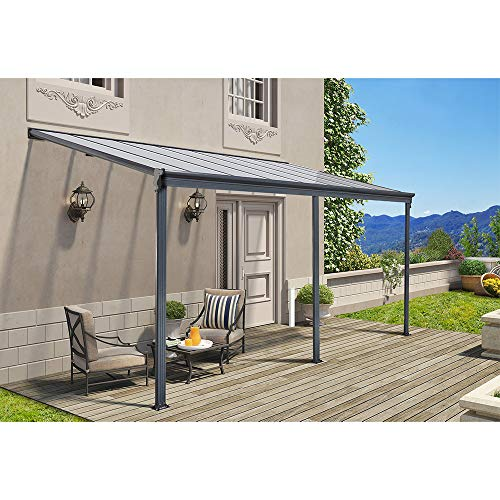Home Deluxe - Terrassenüberdachung anthrazit - Maße: 618 x 303 x 226/278 cm - Inkl. komplettem Zubehör - verschiedene Größen