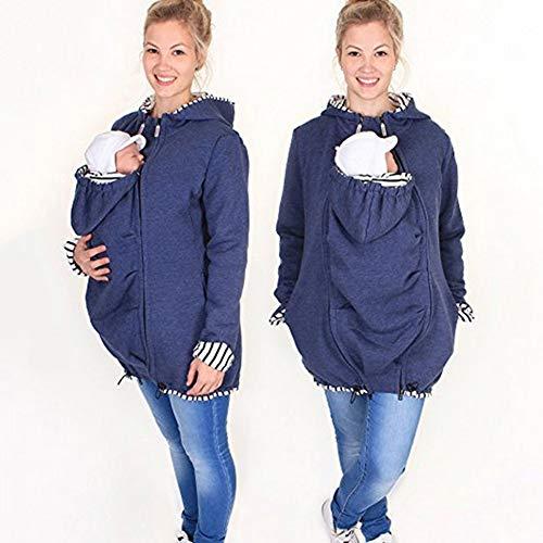 Schwangerschafts Känguru Pullover Hooded Zipper Sweatshirt Babytrage Cover Umstandsmantel Für Babytragen,XL