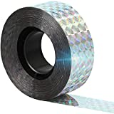 """Reflective Scare Tape, Double Sided Tape to Keep Away Birds, Pigeons, Crows, Woodpecker, and More (1"""" by 298 ft)"""