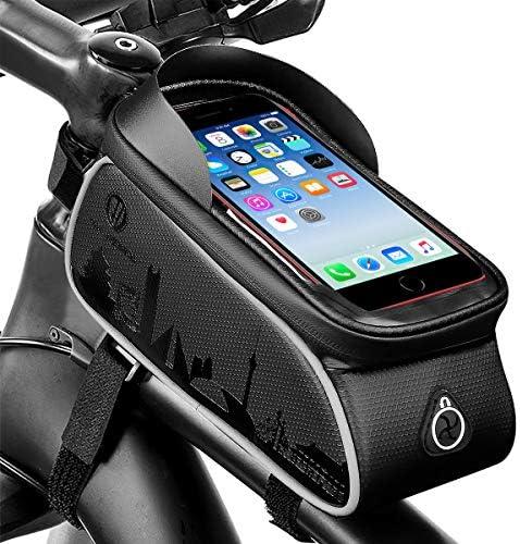 Wallfire Bike Phone Mount Bag Bicycle Frame Bike Handlebar Bags with Waterproof Touch Screen product image