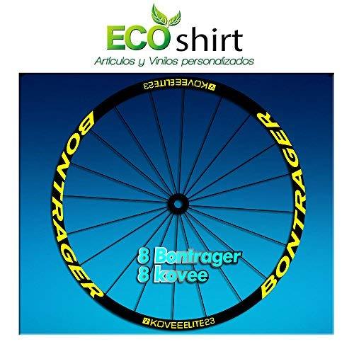 Ecoshirt FQ-L6AN-EI3M Pegatinas Stickers Bontrager Kovee Elite 23 Am208 Wheel Aufkleber Llanta Rim, Amarillo