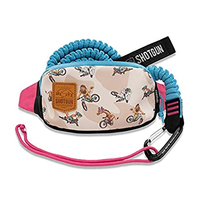 Shotgun Kids MTB Kids Tow Rope and Kids Hip Pack Combo - Complete Set | Child Bike Bungee Cord Pull Behind | Compatible with All Mountain Bikes | for Bigger Family Rides | Load Rated to 500lb