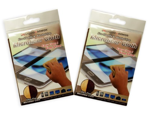 Dynaflo LIQUIDARMOR Screen Cleaning Microfiber Cloth for Tablets  2 Packs LA200C