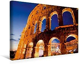 Premium Textil lienzo 45 cm x 30 cm horizontal, una vista dramática de la anfitrión en Pula, Croacia, cuadro sobre bastidor, imagen de vista croata (CALVENDO Orte);Calvendo Orte
