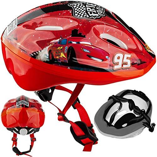 alles-meine.de GmbH Kinderhelm Cars Größen verstellbar - Helm für Kinder Junge Car Lightning Mc Queen z.B. als Fahrradhelm Größe Jungen