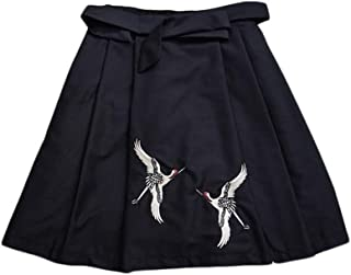スカート レディース 鶴 刺繍付き クラシック 和柄 タンチョウ 和風 ショート 女神 気立て フリーサイズ