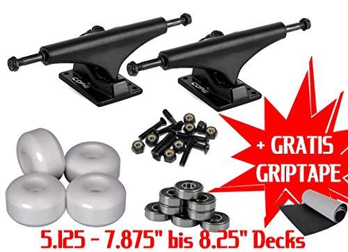 Core Skateboard assen set 5.125 setup assen rollen lagers hardware/voor 7,75-8,25 inch + griptape gratis