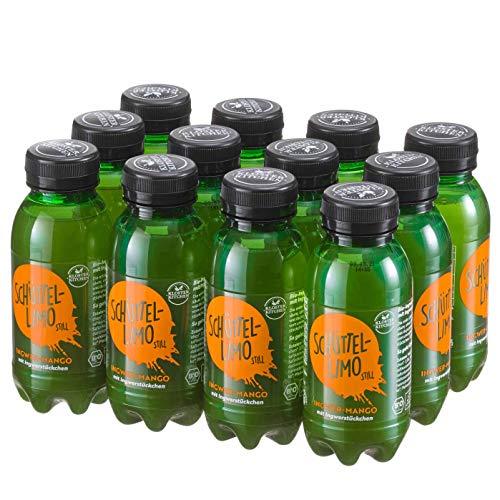 12er Pack Kloster Kitchen Bio Schüttel-Limo Ingwer Mango, Frische Kick ohne Kohlensäure, mit Ingwerstückchen, 12x 250ml in EINWEG PET Flasche, vegan (Mango, 12er Pack)