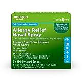 Amazon Basic Care Allergy Relief Nasal Spray, Fluticasone Propionate (Glucocorticoid), 50 mcg Per Spray, 1.62 Fluid Ounces