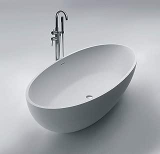 ADM Oval Stone Resin Freestanding Bathtub 66.9
