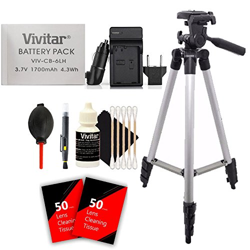 NB-6L Deluxe Accessory Bundle for Canon PowerShot SX710 SX530 SX520 SX510 SX500 SX700 SX280 SX260 SX170 and S120 Along With AC / DC Charger, Battery, EU Plug Adapter, Tall Tripod and More Accessories